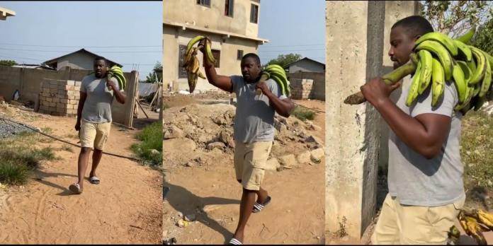 John Dumelo spotted selling plantain after losing elections - Photos 2