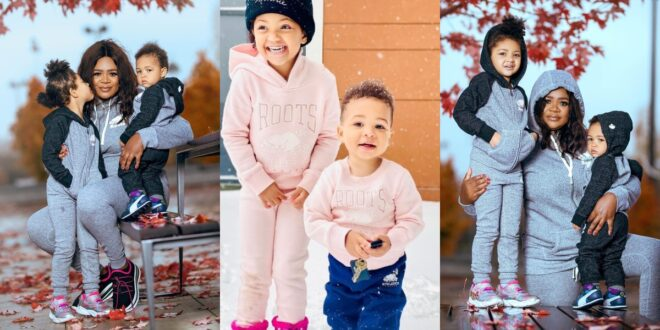 kafui Danku's kids, Baby Lorde and Titan Causes confusion on social media with these Cute pictures. 1