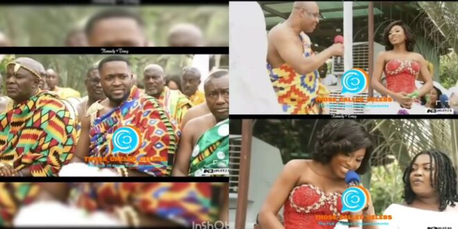 Video of Tracy's father asking if he should accept the dowry of Kennedy Osei shocks Ghanaians (video) 1