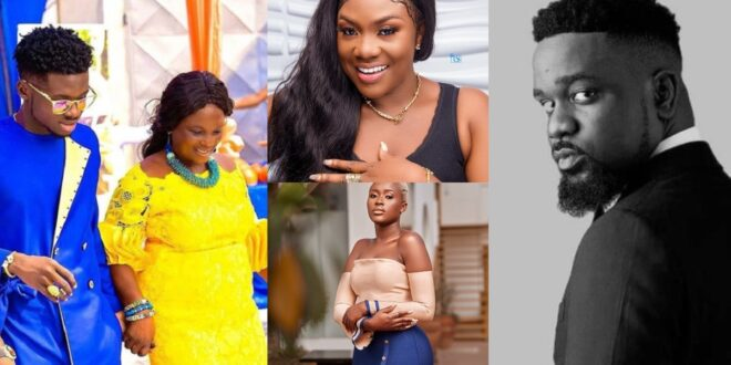 Sarkodie, Fella Makafui, Emelia Brobbey and others reacts asKuami Eugene sings for his mother (video) 1