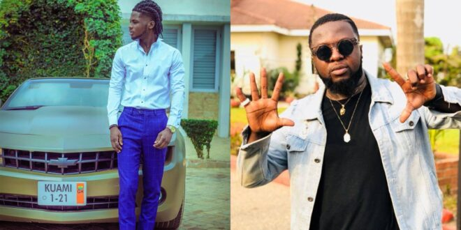Kuami eugene drops a rap verse in reply to Guru's diss song to him (video) 1
