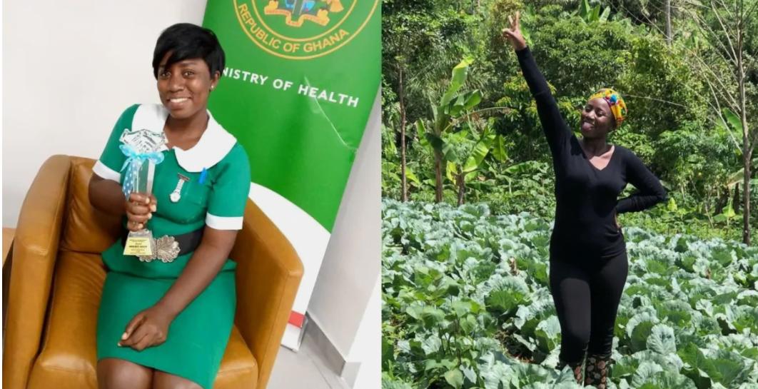 Meet Margaret Afriyie, Award wining Mid wife who is also a farmer (photo) 2
