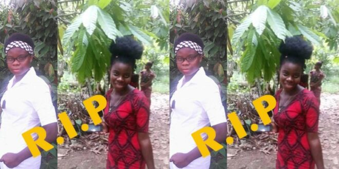 So sad! 22 years old girl d!es whiles giving birth (photo) 1