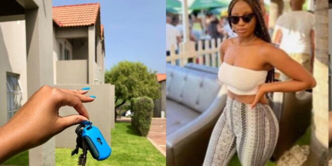 25 years old lady celebrates her birthday with a new mansion she bought (photo) 1
