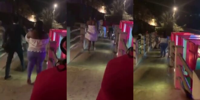 Wife locates and beats husband and side-chick as they chop Valentine in a Hotel - Video 1