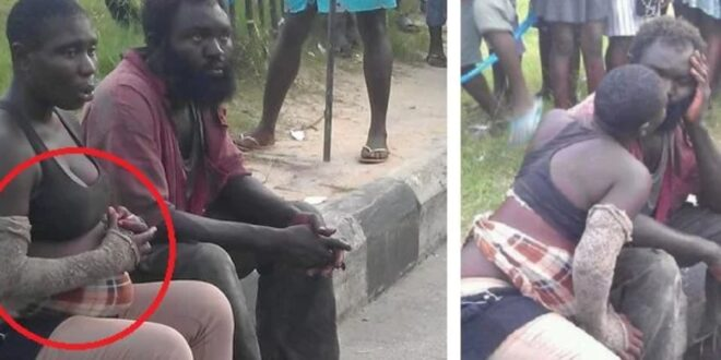 Two mad lovers cause stir as they chop love on the streets. (photos) 1