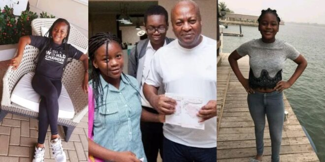 Pictures of Mahama's only daughter showcasing her beauty. 1
