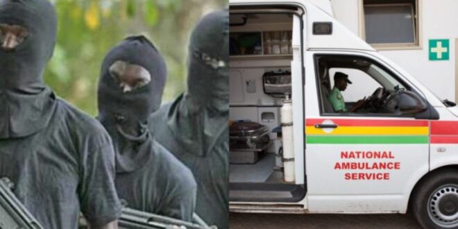 Armed Robbers attack ambulance with woman in labor in Somanya 1