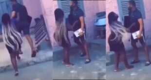 Angry Boyfriend takes back TV and Decoder her bought for girlfriend after breakup - Video 1