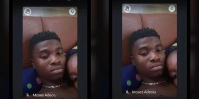 A young man makes love during online classes with his girlfriend 1