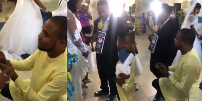 Young man disgraced and prevented by a pastor from proposing at someone's wedding (video) 1
