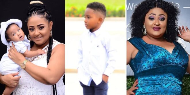 Kumawood actress Matilda Asare Flaunts her handsome son as he celebrates a year old today. 1