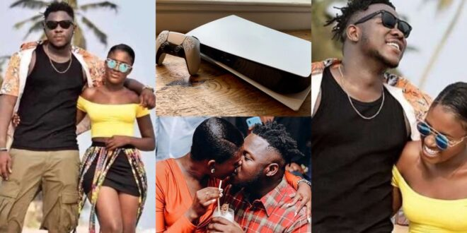 Fella Makafui surprises Medikal with a new Ps5 as a val's day gift (video) 1