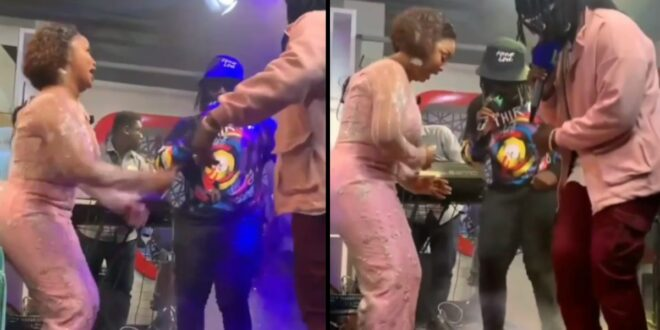 Nana Ama Mcbrown displays her Zanku skills as she competes with Dope Nation - Video 1