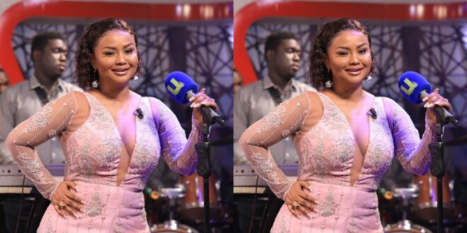 Nana Ama Mcbrown exposes her melon's in the dress she wore on yesterday's Program (photo) 1
