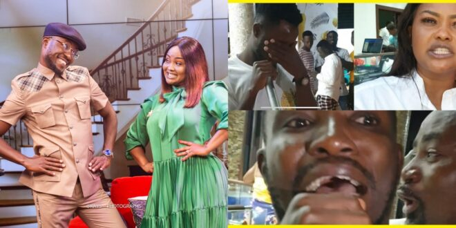 Nana Ama Mcbrown lash Teacher kwadwo with a cane for trying to Grind Hajia4real 1