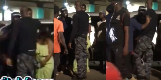 Drunk Police Officer hit a woman with his car as his colleague rushed to his defense - Video 1