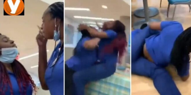 Too bad!! Two Nurses Dirties themselves at the hospital (video) 1