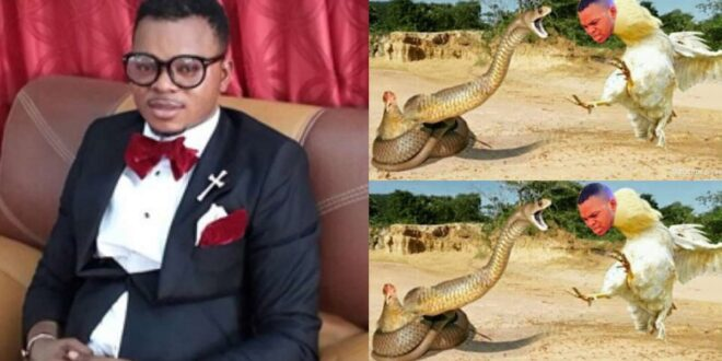 Video of how Angel Obinim turned a cock to save a teacher from a snake bite surfaces 1