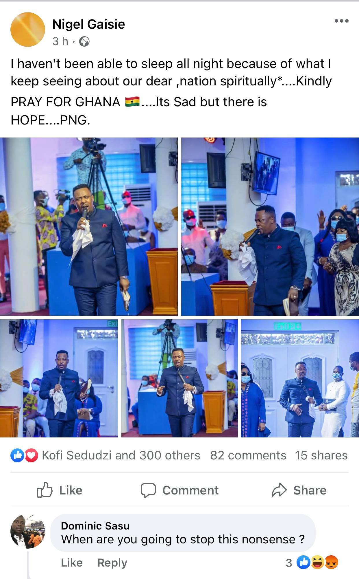 I can't sleep at night due to what i always see about Ghana - Prophet Nigel Gaisie 2