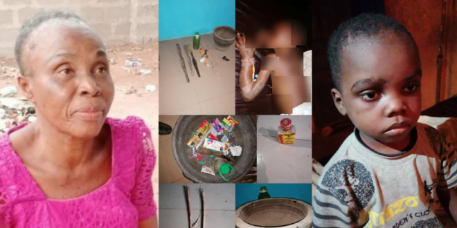 Video: Prophetess arrested for k!lling and pounding children for rituals - Children Rescued 1