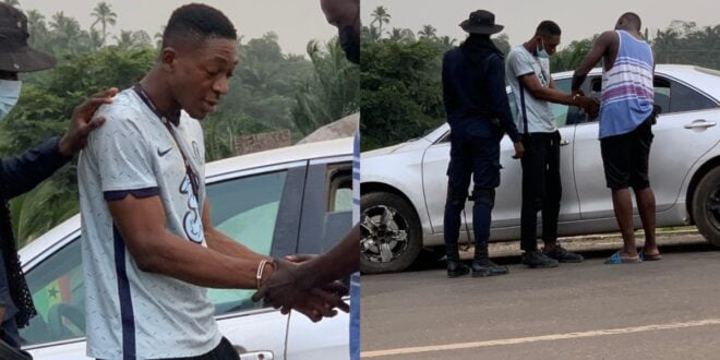 Young Ghanaian rapper who took Girlfriend's 10K finally arrested - Video + Photos 1