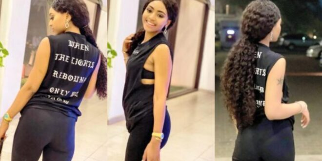 Regina Daniels shows her new slim body after birth in new photos 1