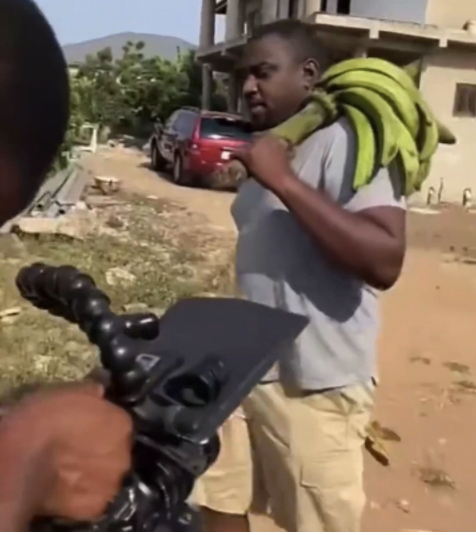 John Dumelo spotted selling plantain after losing elections - Photos 5