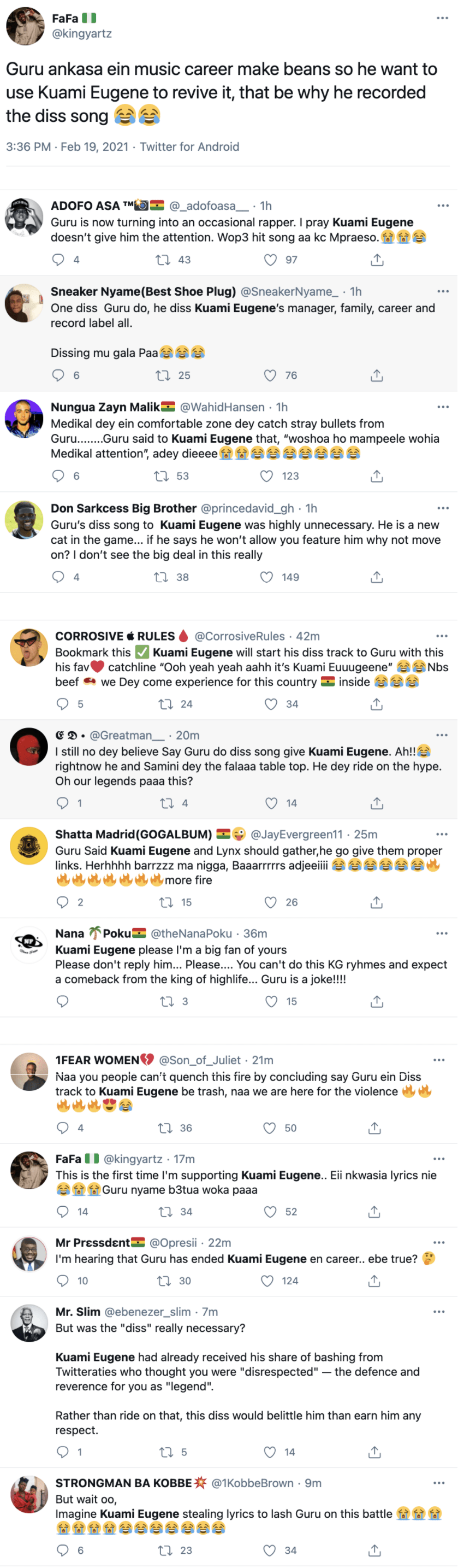 Guru wants to use the name of Kuami Eugene to resurrect his dead Career as he releases diss song 2