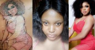Area Boys attacks lady who tattooed Bobrisky's image on her skin 14