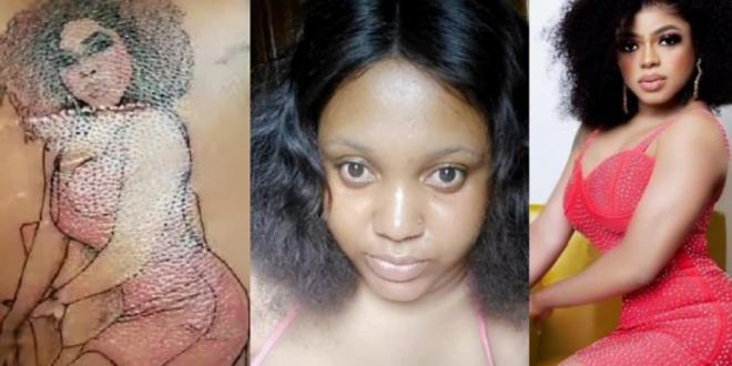 Area Boys attacks lady who tattooed Bobrisky's image on her skin 1