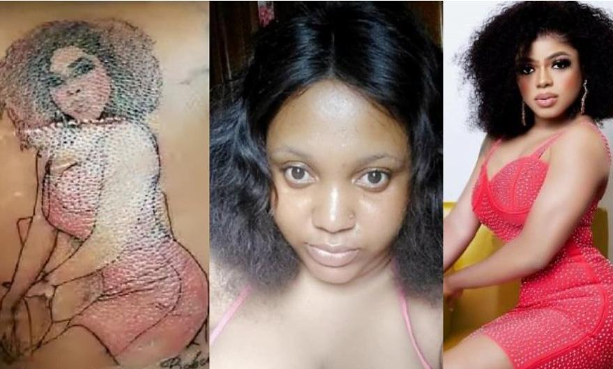 Area Boys attacks lady who tattooed Bobrisky's image on her skin 2