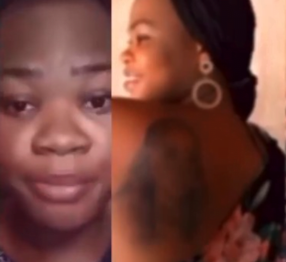 My father has rejected me after I tattooed Bobrisky at my back - Lady cries 2
