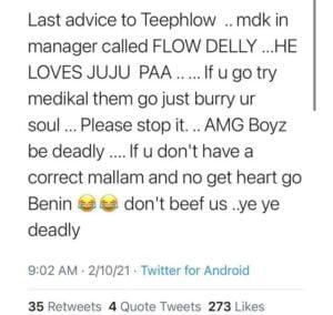 Medikal's manager is into 'Juju' - Showboy tells Teephlow as he beef Medikal 3