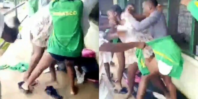 Two Sogakope SHS girls takes off their Uniform to fight dirty over a boy (video) 1