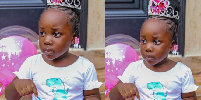 3-Year-Old daughter of Stonebwoy drives him in town - Video 1
