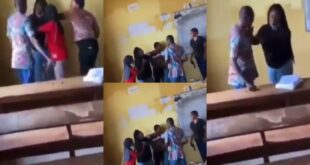 Video of Famale student, be@ting male Invigilator for taking her papers surfaces (video) 11