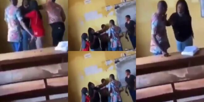 Video of Famale student, be@ting male Invigilator for taking her papers surfaces (video) 1
