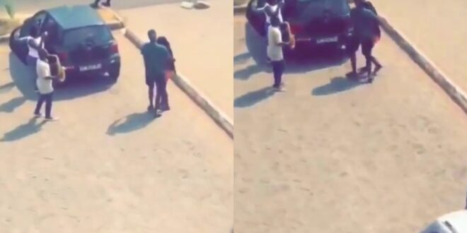 Legon student causes Massive stir on campus after he surprised his girlfriend bigtime (video) 1