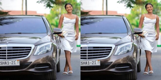 Zylofon music buys a brand new Benz for Tiisha (photo) 1