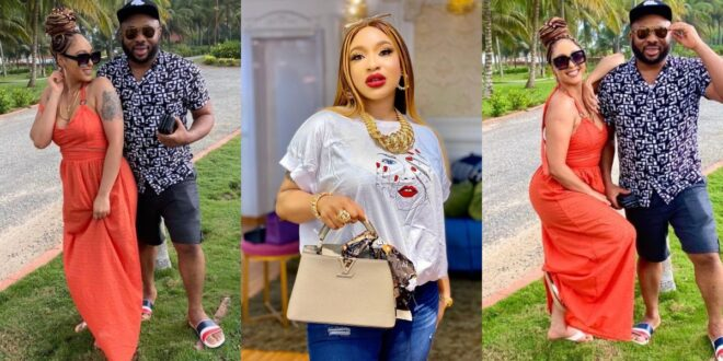 Churchill teases Tonto Dikeh as he shares lovely moments with his new lover, Rosy - Photos 1