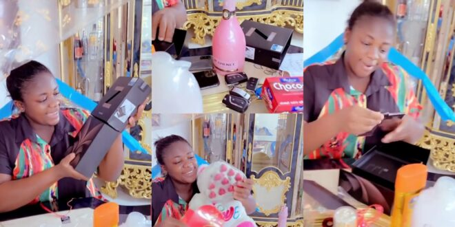 "Tracey Boakye showcases all the gifts ""papa no"" gave her on valentine (video) 1"