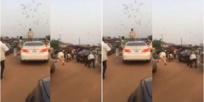 Yahoo Boys spotted throwing money on the streets - Video 1
