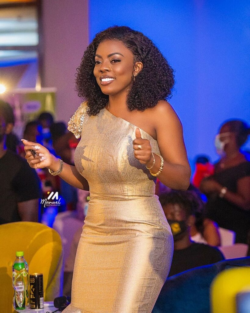 Nana Aba Anamoah regrets after she was given lotto numbers which won but she refused to stake. 2
