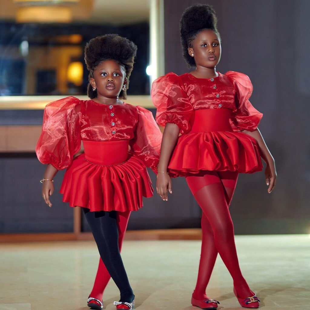 Nana Akua Addo storms the internet with a stunning picture of her two daughters 2