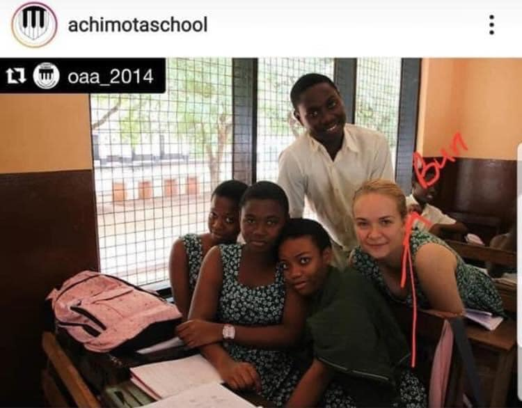 Netizens blast Achimota After they were exposed of admitting white students with long hair. 4