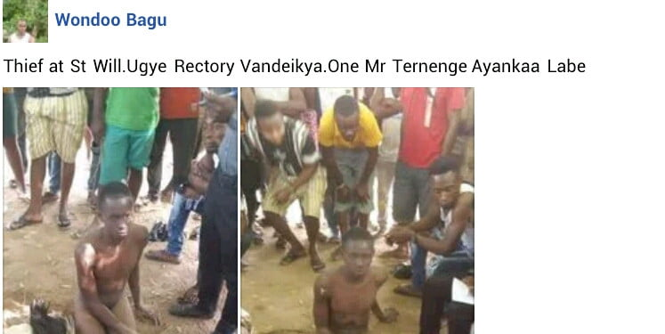 20-year-old man stripped and disgraced for reportedly stealing chicken - Photos