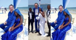 65 years old white man comes to Africa to marry 21 years old girlfriend of a scammer who scammed him. (photos) 129