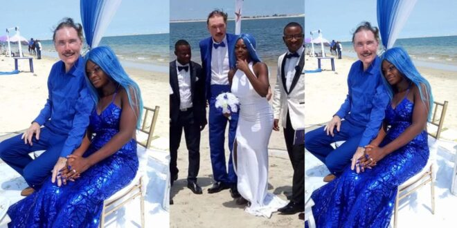 65 years old white man comes to Africa to marry 21 years old girlfriend of a scammer who scammed him. (photos) 1