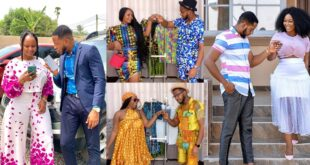Aaron Adatsi and baby mama models in new video to show lovers how to wear matching outfits (video) 48